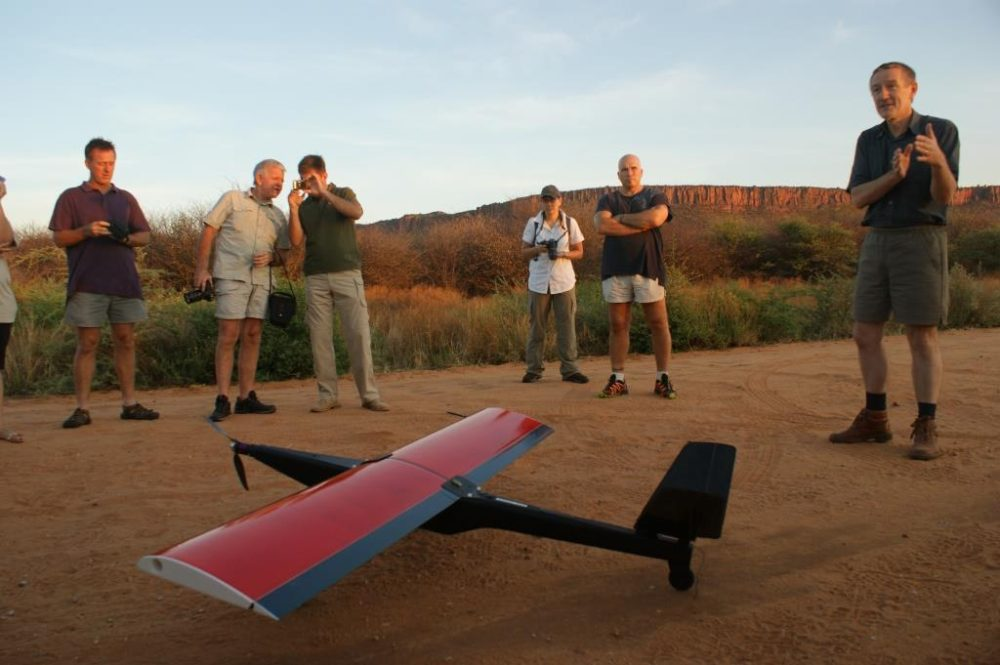Image of a drone before take off.