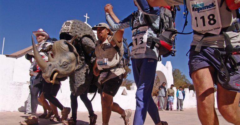 Image of iconic Save the Rhino costume