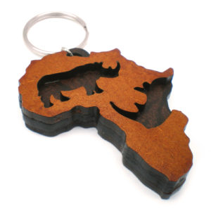 Africa Rhino Keyring