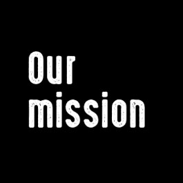 Graphic: Our Mission, About Us.