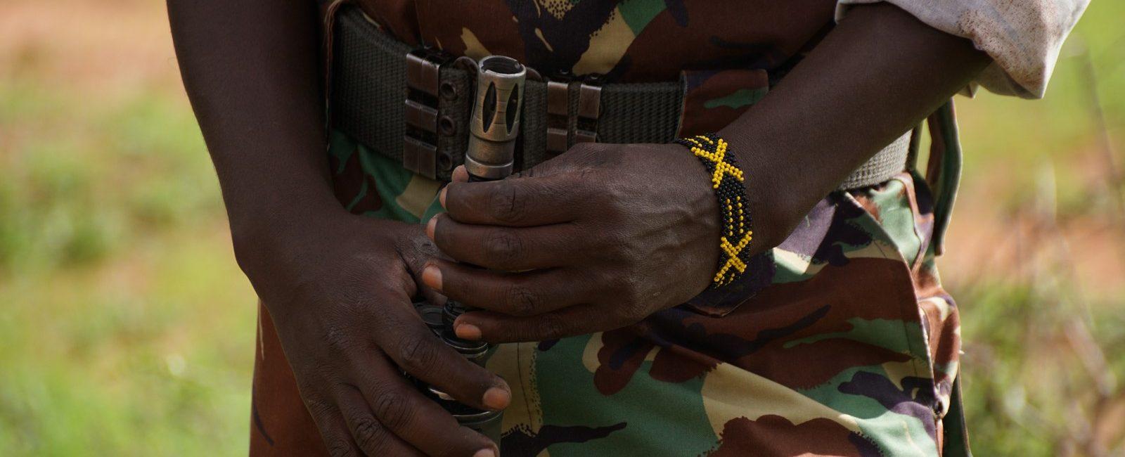 Image of an armed ranger in Kenya