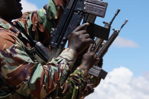 Armed rangers in Kenya.