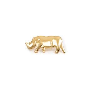 Gold rhino pin badge