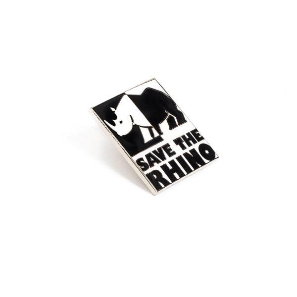 Save the Rhino Logo Pin Badge