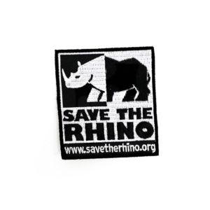Embroidered Save the Rhino logo badge
