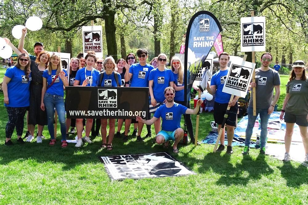 Save the Rhino volunteer and staff at London Marathon 2018