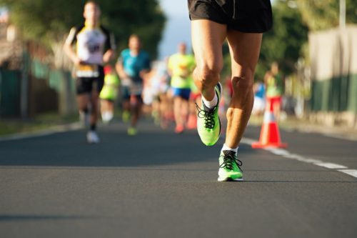 Image of runners during a marathon