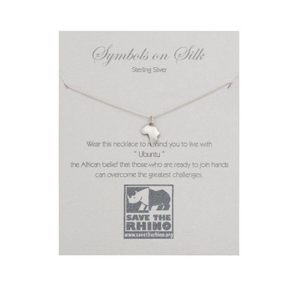 Africa Necklace on Sterling Silver Chain
