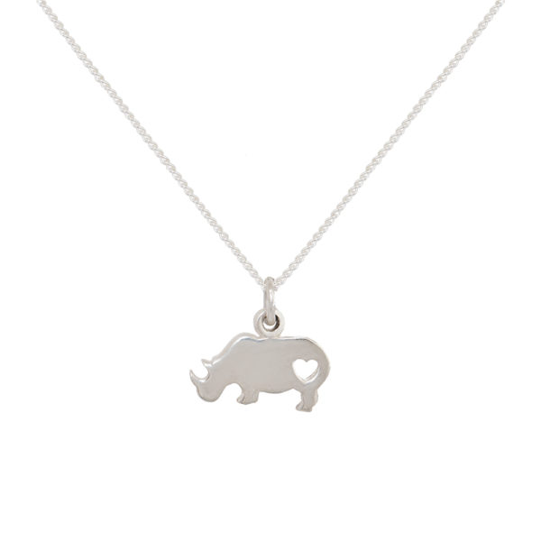 Rhino Pendant on Sterling Silver Chain