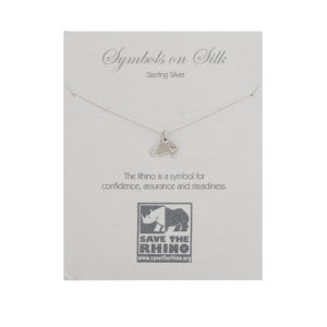 Rhino Necklace on Sterling Silver Chain