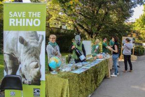 Image showing fundraising activities for World Rhino Day at Wilhelma Zoo Stuttgart