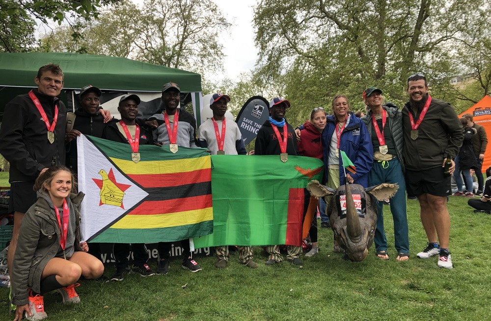 Team Zim Zam after London Marathon 2019.
