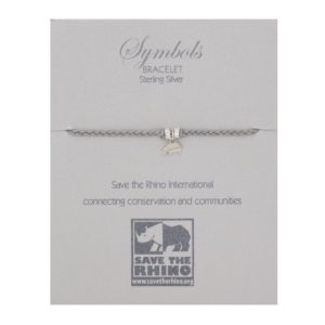 Plaited bracelet with rhino charm