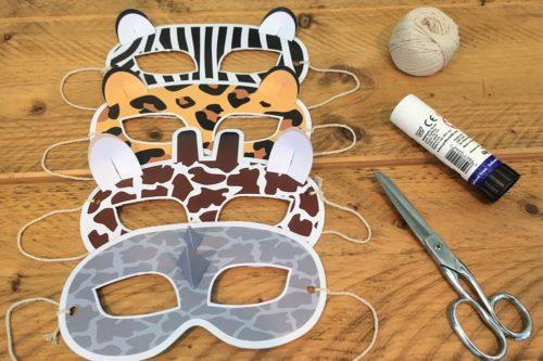 Animal face masks