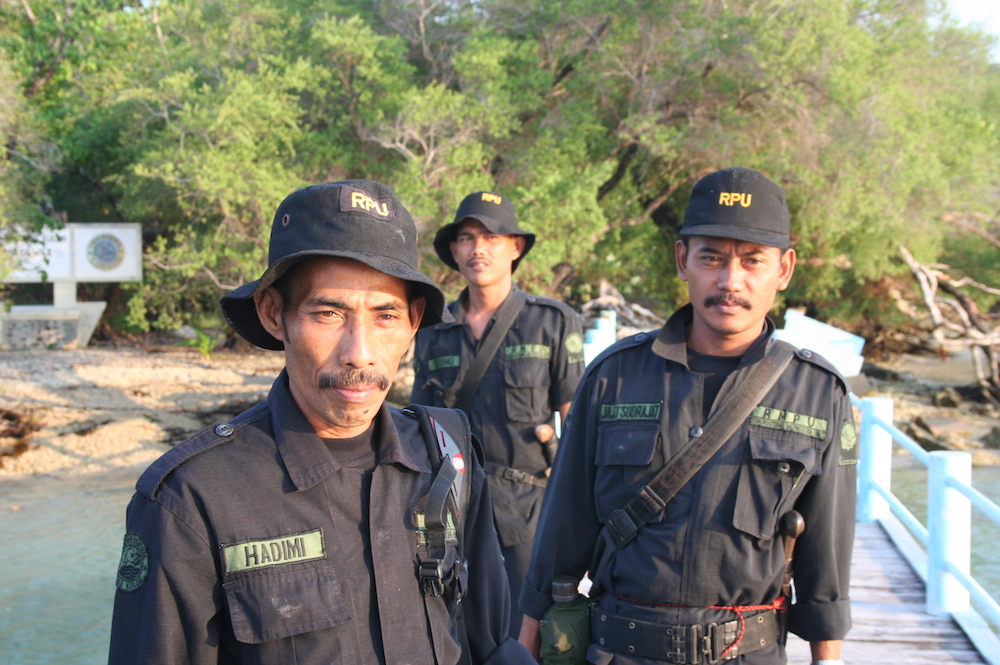 Three members of the Rhino Protection Unit