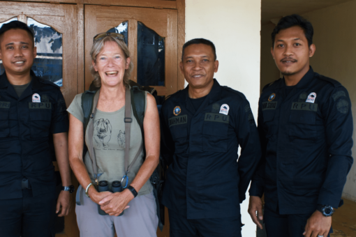 Cathy Dean and three Rhino Protection Unit Officers