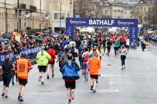 Runners at the Bath Half