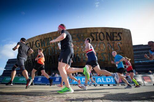 Runners at the Cardiff Half Marathon