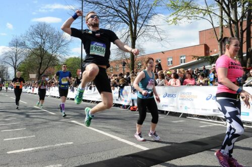 Runners at the Manchester marathon
