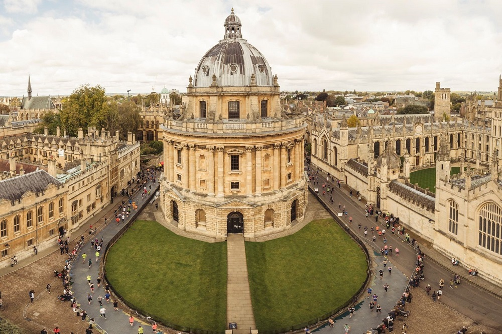 Aerial view of the Radcliffe Camera during the Oxford Half
