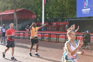 Zak Ajia finishing the London Marathon